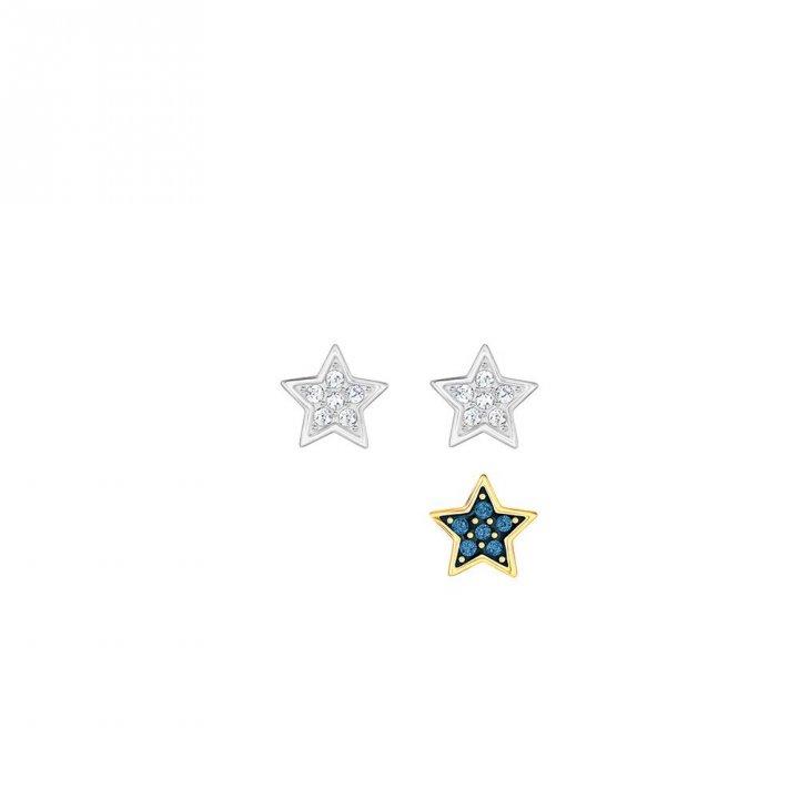 Swarovski施華洛世奇 Crystal Wishes Star 穿孔耳環