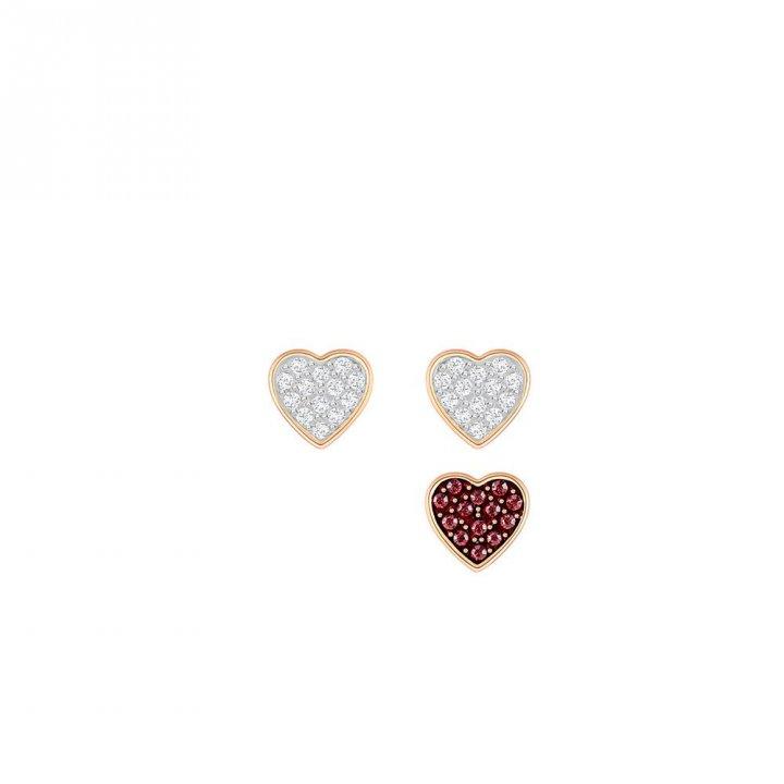 Swarovski施華洛世奇 Crystal Wishes Heart 穿孔耳環