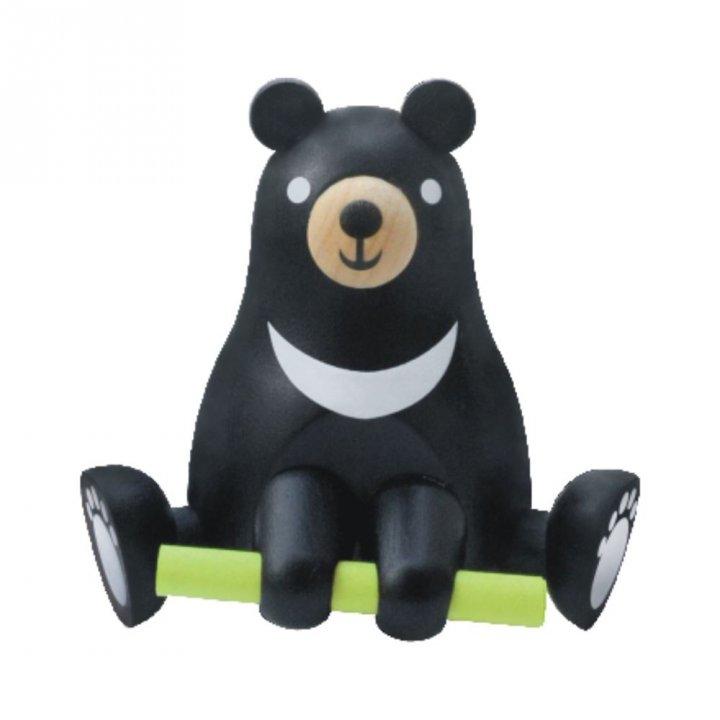 Jean Cultural知音文創 黑熊木製許願物綠色獼猴桃