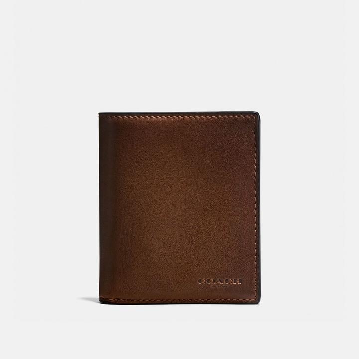 SLIM COIN WALLET IN SPORT CALF LEATHER光滑小牛皮革薄型零錢皮夾