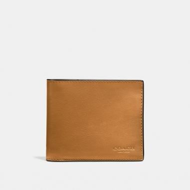Coach寇馳 漸層色彩光滑小牛皮證件皮夾