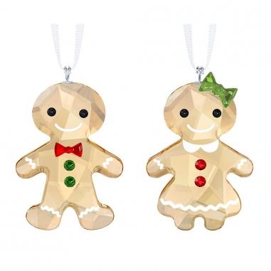 Swarovski施華洛世奇 Christmas薑餅娃娃吊飾組