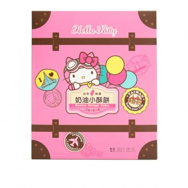 Hello KittyHello Kitty 《同品項.買10送1》環遊Hello Kitty奶油小酥餅
