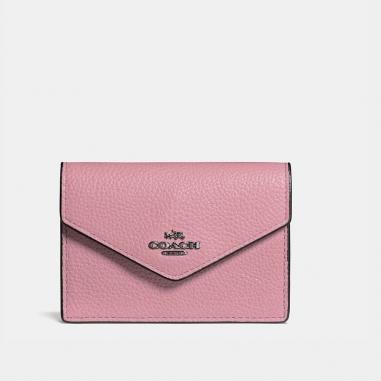Coach蔻馳(精品) 信封式鵝卵石皮革卡夾