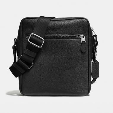 Coach蔻馳(精品) METROPOLITAN 鵝卵石皮革飛行側背包