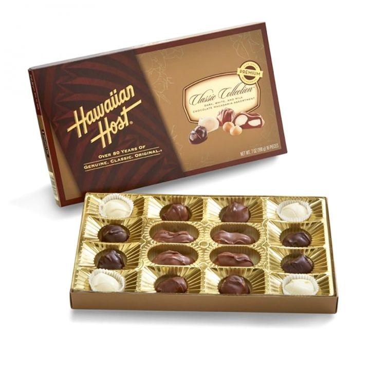 Hawaiian Host賀氏 《同品項.買3送品牌禮》夏威夷經典綜合巧克力