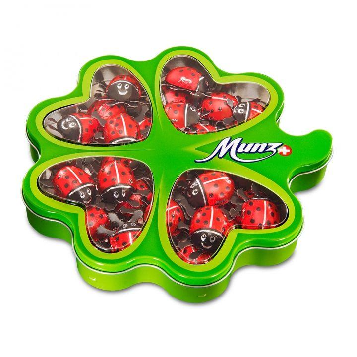 MunzMunz 幸運葉瓢蟲巧克力鐵盒