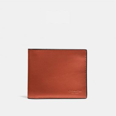 Coach蔻馳(精品) 漸層色彩光滑小牛皮證件皮夾