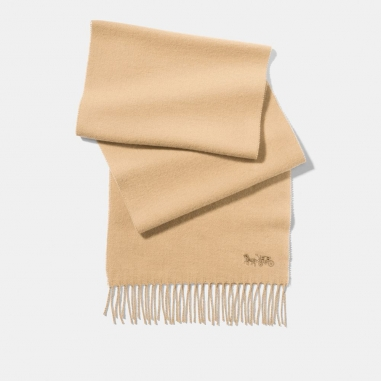 Coach蔻馳(精品) 經典馬車LOGO刺繡圍巾