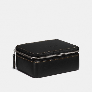 Coach蔻馳(精品) 撞色皮革隨身小飾品盒