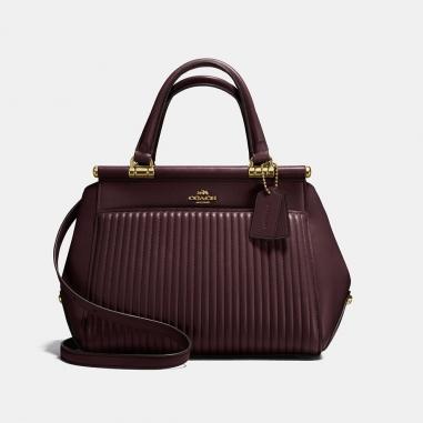 Coach寇馳 GRACE 絎縫格紋皮革手袋