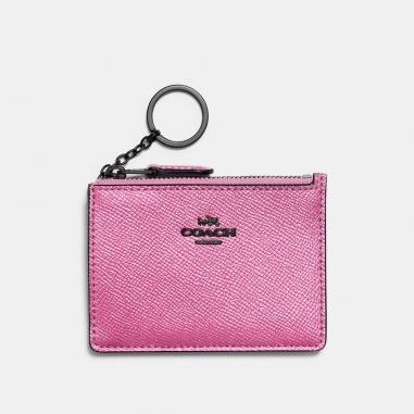 Coach蔻馳(精品) 金屬光澤皮革證件套