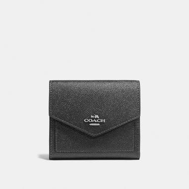 Coach蔻馳(精品) 金屬光澤皮革小型皮夾