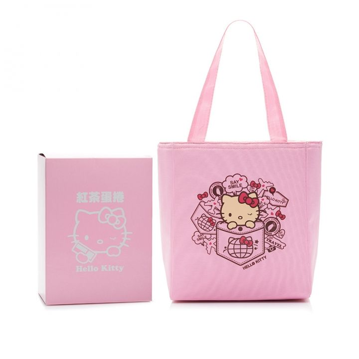 Hello KittyHello Kitty 旅行Kitty紅茶蛋捲提袋組