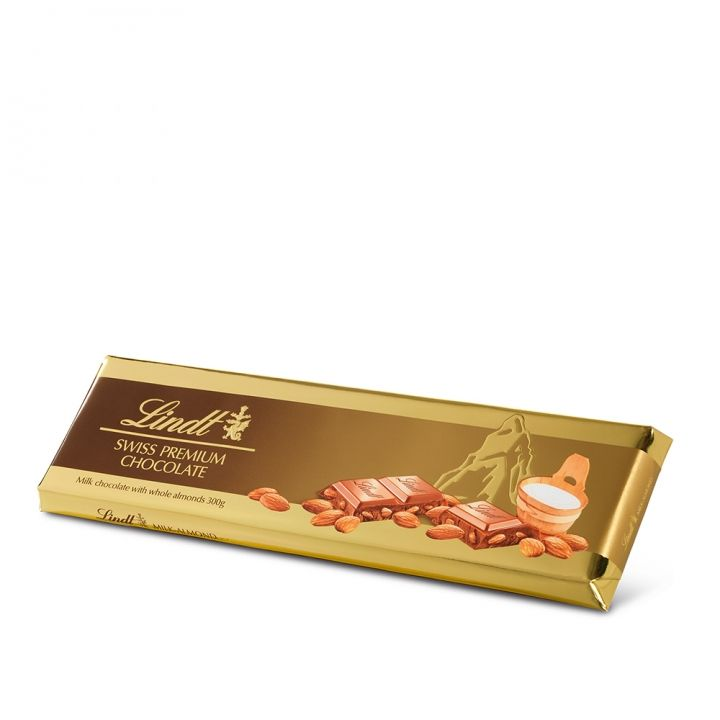 Lindt瑞士蓮 杏仁牛奶巧克力片