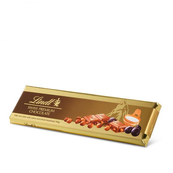 Lindt瑞士蓮 榛果葡萄牛奶巧克力片