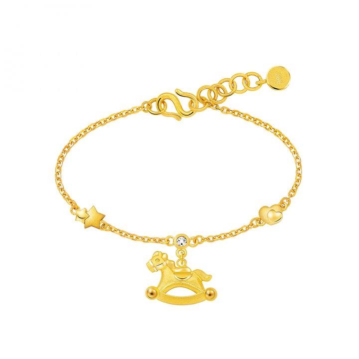 Ever Rich Jewelry昇恆昌珠寶 24K金黃金手鍊彌月禮盒組