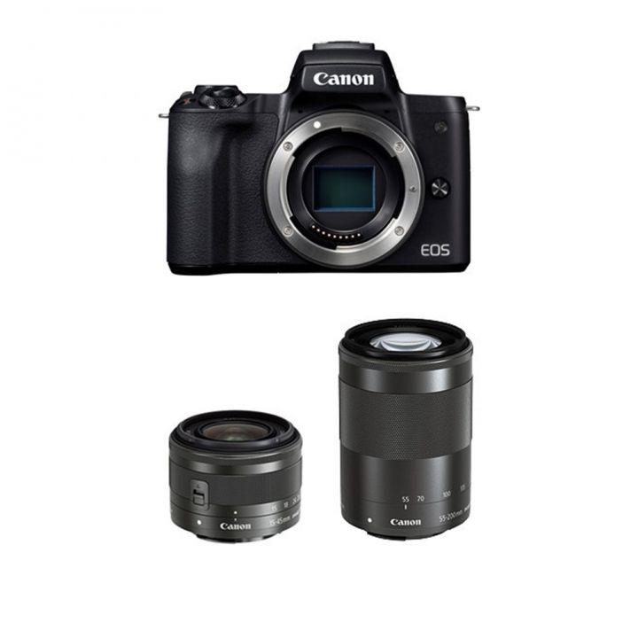 Canon佳能 EOS M50 15/45-55/200神秘黑雙鏡組