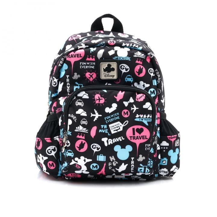 Disney迪士尼 旅行花版兒童後背包-小