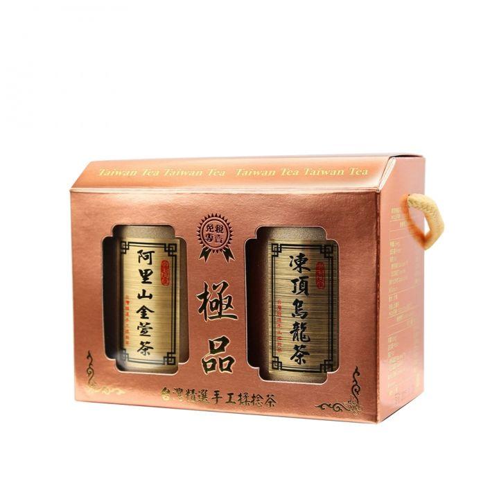 EVERRICH昇恆昌獨家開發監製 《同品項.買5送1》金玉滿堂-凍頂烏龍茶+阿里山金萱茶