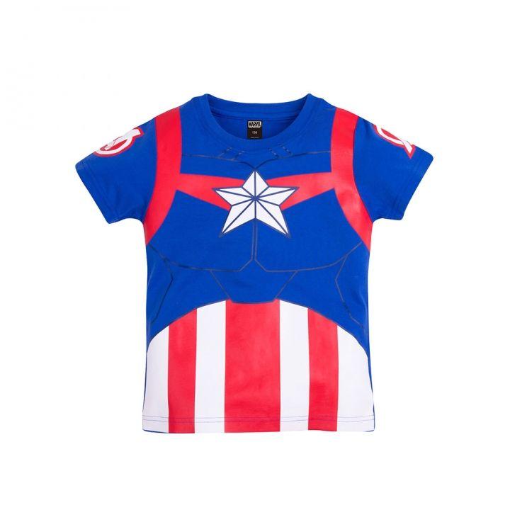Beast Kingdom野獸國 Marvel系列兒童短袖T恤-美國隊長制服款