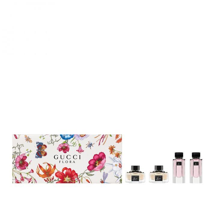 Gucci古馳(香水) 花園香氛-梔子花與花之舞女性迷你淡香水禮盒