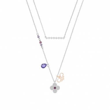 Swarovski施華洛世奇 GLOWING:NECKLACE CLOVER SET DMUL/MIX鏈墜