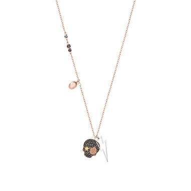 Swarovski施華洛世奇 DUO:NECKLACE SKULL DMUL/MIX鏈墜