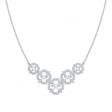 Swarovski施華洛世奇 SPARKLING DC:NECKLACE MED FLOWR CZWH/CRY鏈墜