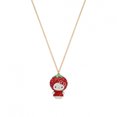 Swarovski施華洛世奇 HELLO KITTY:PENDANT BERRY DMUL/ROS鏈墜
