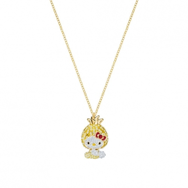 Swarovski施華洛世奇 HELLO KITTY:PENDANT PINEAPPLE LMUL/GOS鏈墜