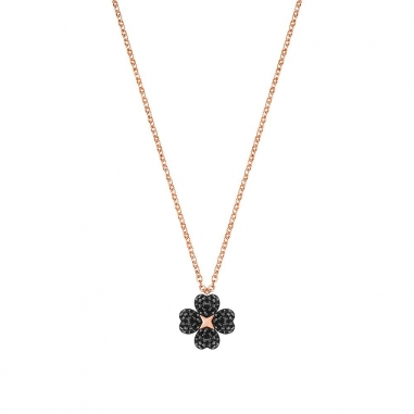 Swarovski施華洛世奇 LATISHA:PENDANT FLOWER CRY/JET/ROS鏈墜