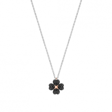 Swarovski施華洛世奇 SS LATISHA:PENDANT FLOWER CRY/JET/MIX鏈墜