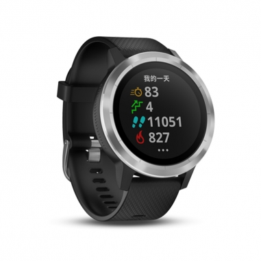 Garmin台灣國際航電 vivoactive3智慧腕錶-俐落黑