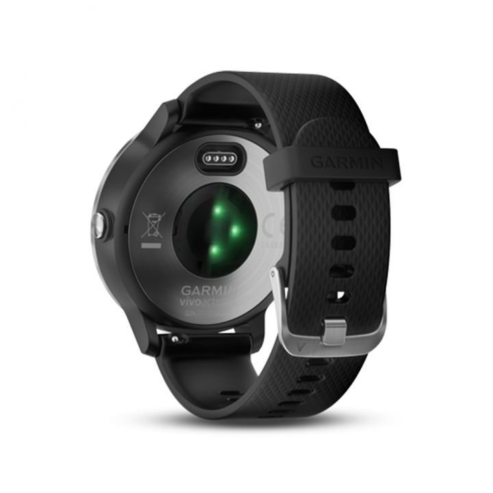 VIVOACTIVE3 TWN BLK/BLK SILICONE STAINLESS STEELvivoactive3智慧腕錶-俐落黑