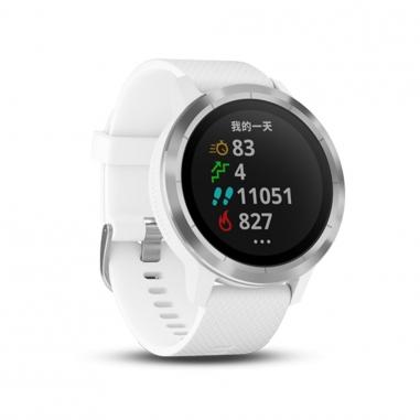 Garmin台灣國際航電 vivoactive3智慧腕錶-律動白