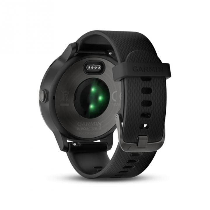 VIVOACTIVE3 TWN BLK/BLK SILICONE SLATEvivoactive3智慧腕錶-尊爵黑