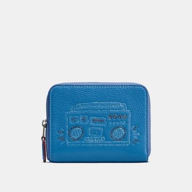 Coach蔻馳(精品) COACH X KEITH HARING小型拉鍊式皮夾