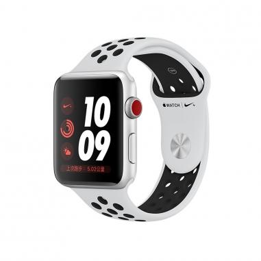 AppleApple Apple Watch Nike+ S3 42mm智慧型手錶-銀鋁白黑帶(GPS+行動網路)