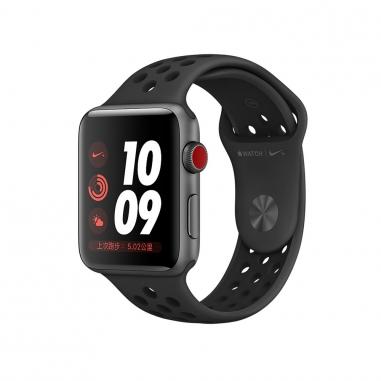 AppleApple Apple Watch Nike+ S3 42mm智慧型手錶-灰鋁黑帶(GPS+行動網路)