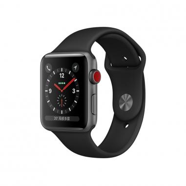 AppleApple Apple Watch S3 42mm智慧型手錶-灰鋁黑錶帶(GPS+行動網路)