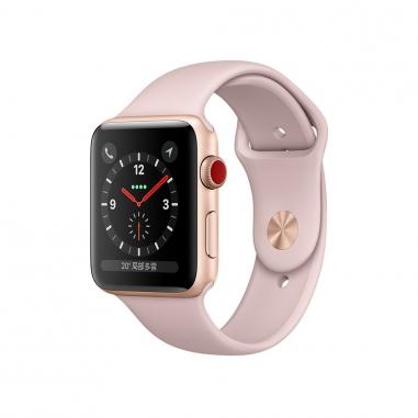 AppleApple Apple Watch S3 42mm智慧型手錶-金鋁粉錶帶(GPS+行動網路)