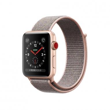 AppleApple Apple Watch S3 42mm智慧型手錶-金鋁粉沙錶環(GPS+行動網路)