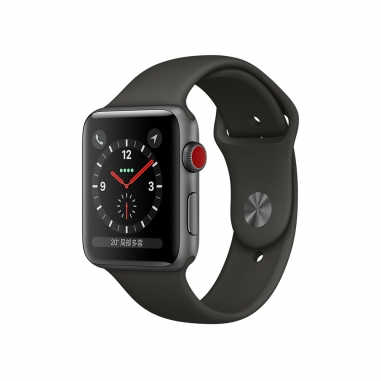 AppleApple Apple Watch S3 42mm智慧型手錶-灰鋁灰錶帶(GPS+行動網路)