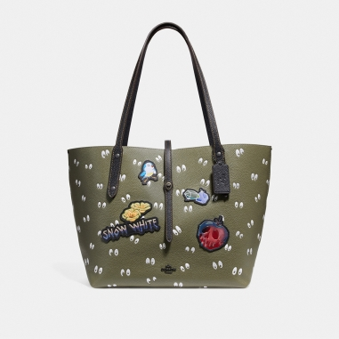 Coach蔻馳(精品) DISNEY X COACH MARKET SPOOKY EYES印花托特手袋