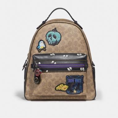 Coach蔻馳(精品) DISNEY X COACH CAMPUS經典塗層帆布拼貼後背包