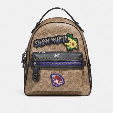 Coach蔻馳(精品) DISNEY X COACH CAMPUS 23經典塗層帆布拼貼後背包
