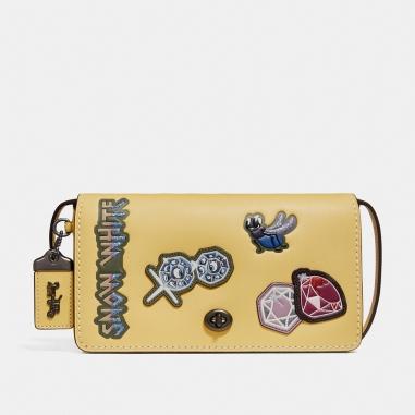 Coach蔻馳(精品) DISNEY X COACH DINKY徽章拼貼皮革手袋
