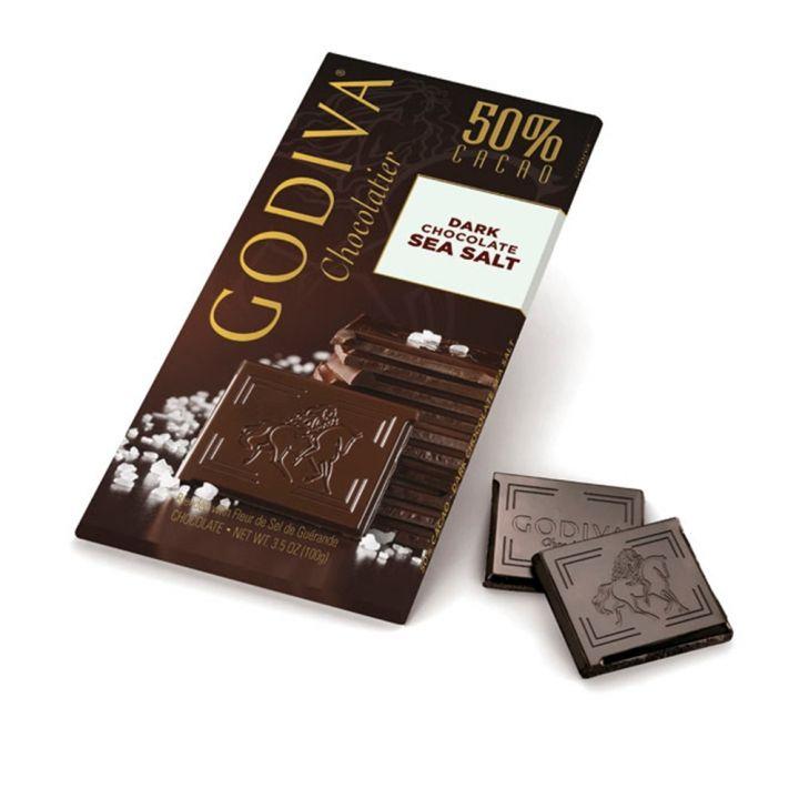 GodivaGodiva 海鹽口味50%黑巧克力磚