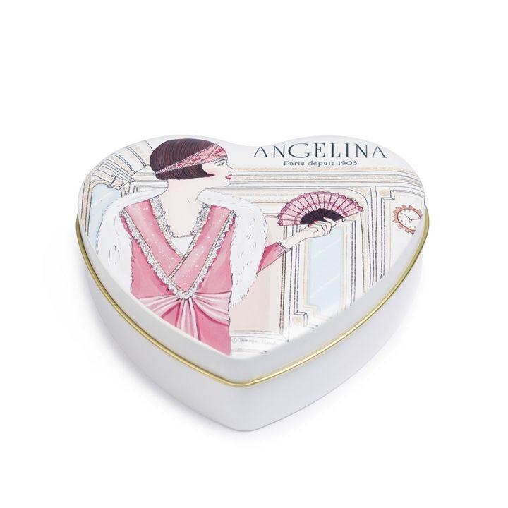 AngelinaAngelina 心型鐵盒牛奶巧克力